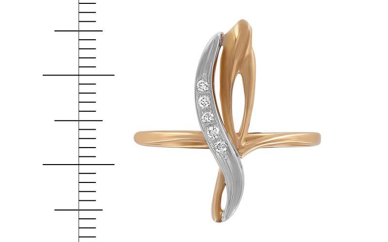 Кольцо с бриллиантом за 7631 с., вместо 12488с.