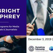 3 декабря презентация Fulbright & Humphrey для журналистов